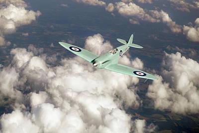 Prototype Digital Art - Supermarine Spitfire Prototype K5054 by Gary Eason