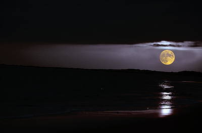 Beach Photograph - Supermoon Tide by Emily Stauring