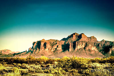 Scenic Photograph - Superstitions by Arne Hansen