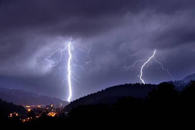 Thunder Photograph - Superstrike by Przemyslaw Wielicki