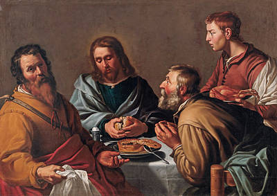 Painting - Supper At Emmaus by Workshop of Lambert Jacobsz