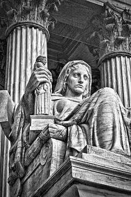 Supreme Court Building 14 Print by Val Black Russian Tourchin
