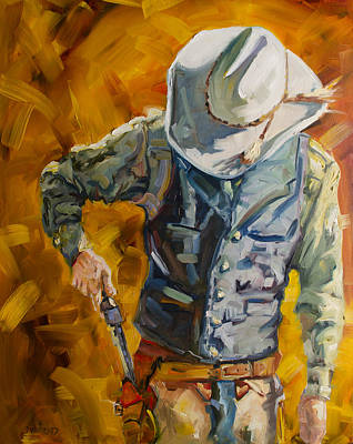 Chaps Painting - Sure Shot by Diane Whitehead