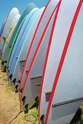Surf Boards Print by Carlos Caetano