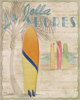 Surfboards Painting - Surf City IIi by Paul Brent