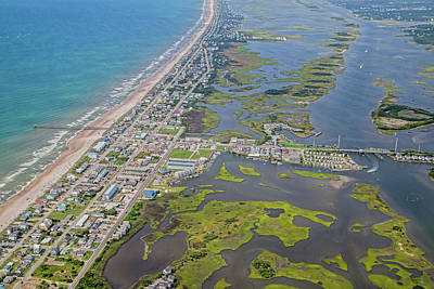 Food Stores Photograph - Surf City Topsail Island Aerial by Betsy C Knapp
