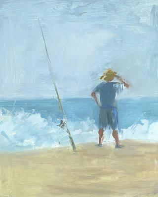 Painting - Surf Fishing by Chris N Rohrbach