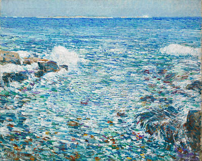 Childe Hassam Painting - Surf. Isles Of Shoals by Childe Hassam