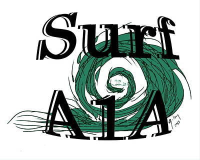 Beach Model Painting - Surf Sign by W Gilroy