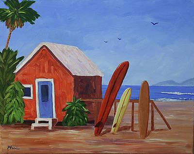 Surfboard Cottage Original by Bob Phillips