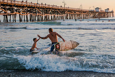 San Clemente Surfing Photograph - Surfboard Inspirational by Scott Campbell
