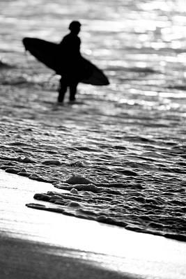 Bnw Photograph - Surfer Foam by Sean Davey