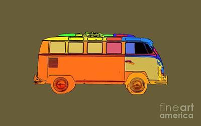 Bus Photograph - Surfer Van Transparent by Edward Fielding