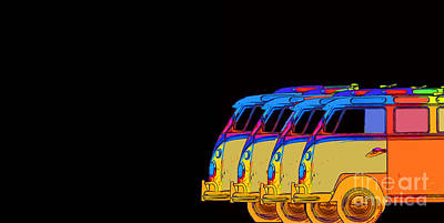 Colorful Abstract Photograph - Surfer Vans 7 by Edward Fielding