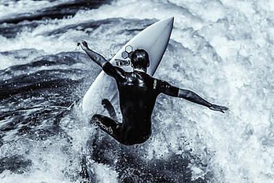 Surfers Cross Print by Thomas Gartner