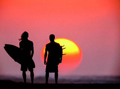 Surf Lifestyle Photograph - Surfers Sunset by Sean Davey