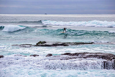 Surf Lifestyle Photograph - Surfin The Reef by Peter Tellone