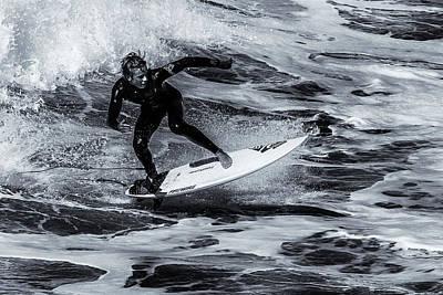 Surfing Air Print by Thomas Gartner
