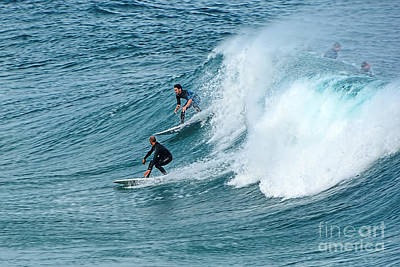 Surfing Fun By Kaye Menner Print by Kaye Menner