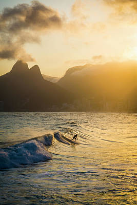 Surfing Magic Print by Lana Enderle