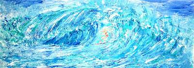 Painting - Surfing by Mary Sedici