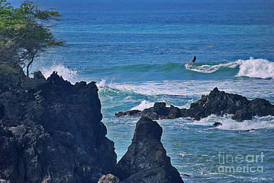 Surfing Photograph - Surfing The Rugged Coastline by Bette Phelan