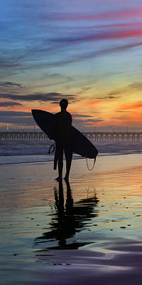 Surfing The Shadows Of Light Portrait Print by Betsy C Knapp