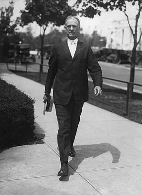 Surgeon General Walks To Work Print by Underwood Archives