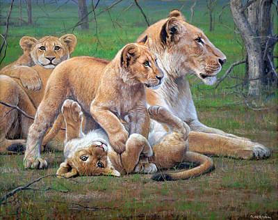 Mammals Painting - Surprised by Gabriel Hermida