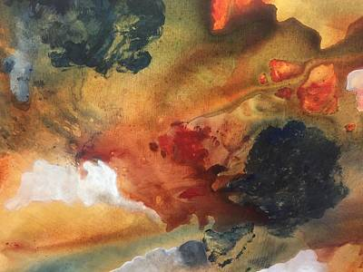 Surreal Sunrise Print by Lori Thompson