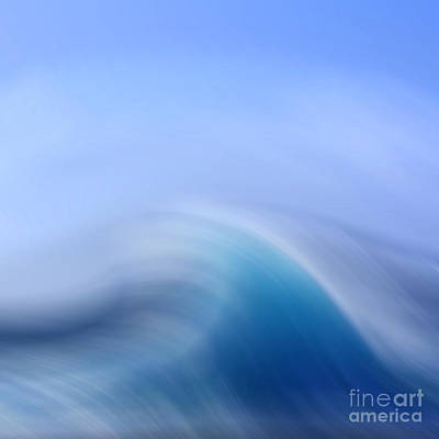 Abstract Movement Mixed Media - Surreal Waves 3 by Linsey Williams