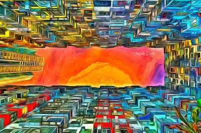 Surrounded By Buildings - Da Print by Leonardo Digenio