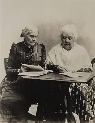 Susan B. Anthony And Elizabeth Cady Print by Everett
