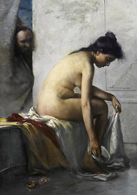 Lovis Corinth Painting - Susanna In The Bath by Lovis Corinth