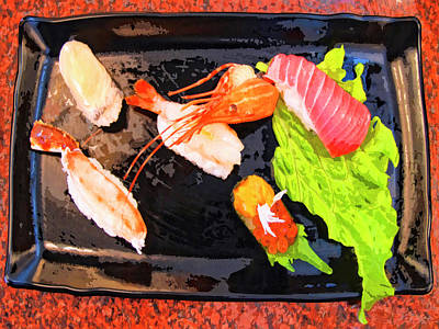 Sushi Plate 2 Print by Dominic Piperata