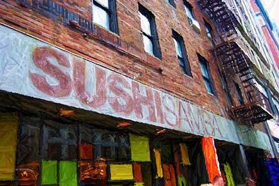 Sushi Samba Sketch Original by Randy Aveille