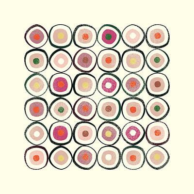 Circle Mixed Media - Sushi by Tonya Doughty