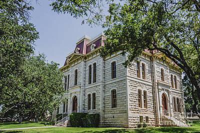 Sutton Photograph - Sutton County Courthouse - Sonora Texas by Debra Martz
