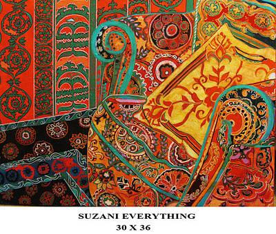 Etc. Painting - Suzani Everything by Linda Arthurs
