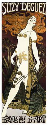 Suzy Deguez - Folies Bergere  1905 Print by Daniel Hagerman