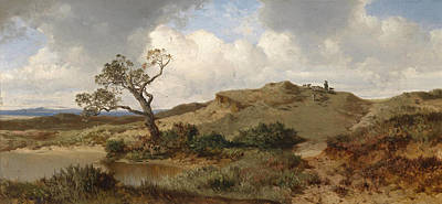 Albert Zimmermann Painting - Swabian Jura by Albert Zimmermann