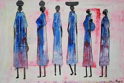 Painting - Swahili People by Abu Artist