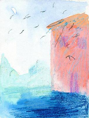 Swallows In Italy  Print by Elizabetha Fox