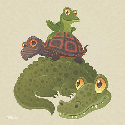 Buddy Drawing - Swamp Squad by John Schwegel