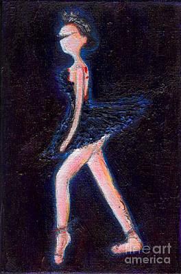 Swan Black Print by Ricky Sencion