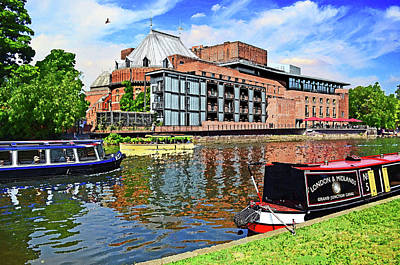 Stratford Mixed Media - Swan Theatre Stratford Upon Avon Home Of The Royal Shakespeare Company by Peter Allen