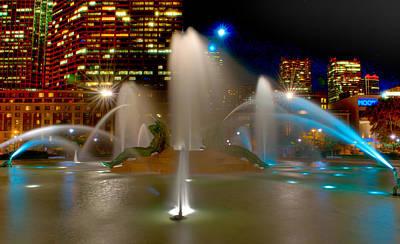 Fountains Photograph - Swann Memorial Fountain At Night by Louis Dallara