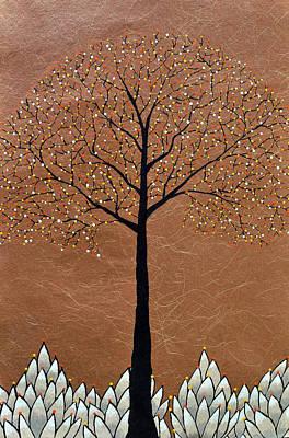 Floral Painting - Swarn by Sumit Mehndiratta