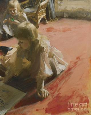 Zorn Painting - Swedish A Portrait Of The Daughters by Anders Zorn