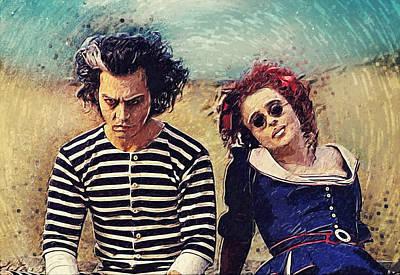 Johnny Depp Digital Art - Sweeney Todd And Mrs. Lovett by Taylan Apukovska
